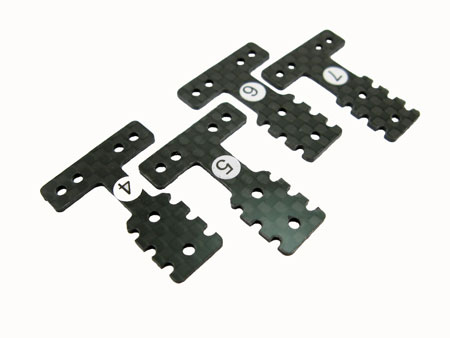 Graphite T-plate Set (4) for MR-03
