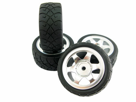 Alloy Front & Rear Wheel Tire set (4) for M-03 & M-05