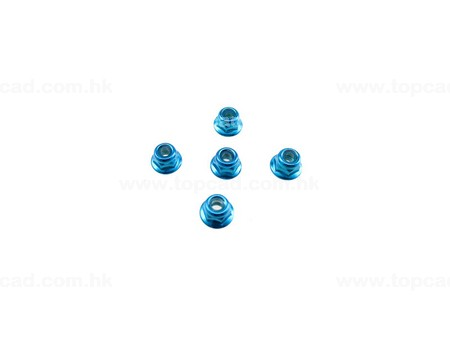 HD 4mm Low Mass Lock Nut set (5)