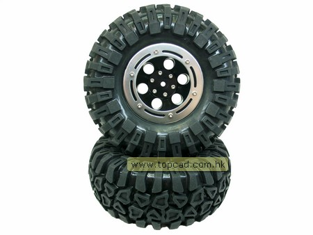 Alloy Bead-lock Wheel & Tire Set (2) for LC40