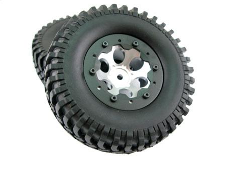 1 9 alloy bead lock wheel tire set 2 for truck