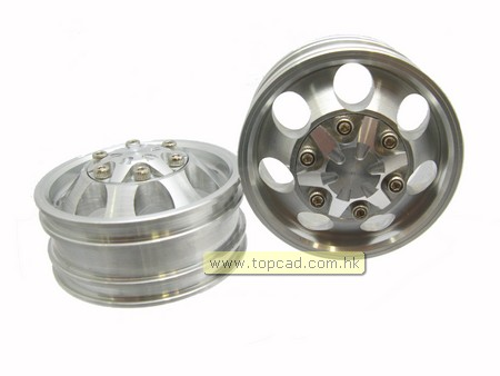 Alloy Front Wheel set 7-hole (2pcs) for Tractor Truck