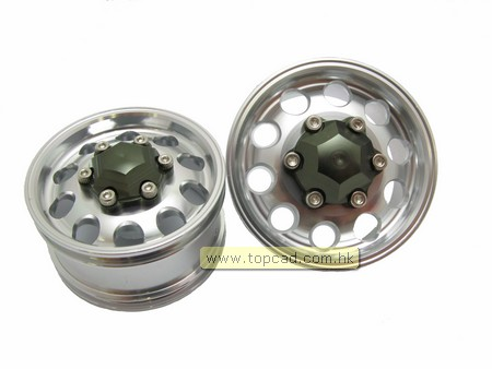 Alloy Front Wheel set Wide Ver. (2pcs)  for Tractor Truck