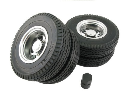 Alloy Rear Wheel & Tire set / (2pair)  for Tractor Truck