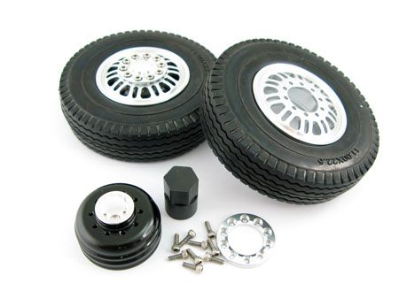 Alloy Front Wheel & Tire set / (2)  for Tractor Truck