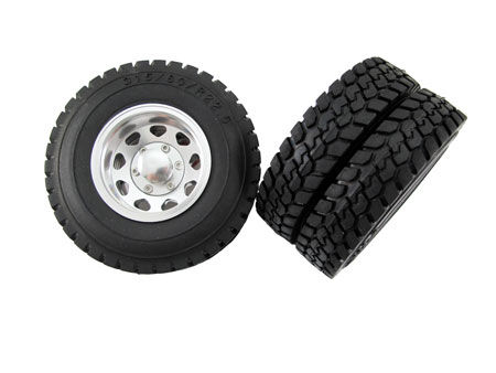 Alloy Rear Wheel & Tire set (2pair) for Tractor Truck