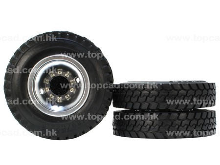 Alloy HD Rear Wheel Tire set (2pair) for Tractor Truck