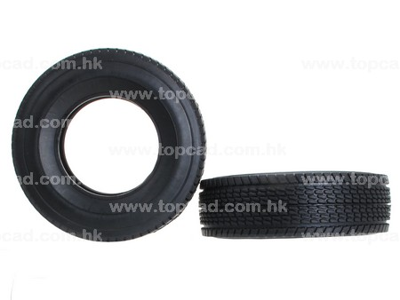 Wider Rubber Tire for Tractor Truck (2) / on-road