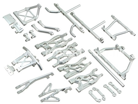 Chassis Upgrade for Axial EXO / silver