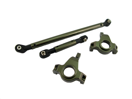 Alloy Steering Block & Linkage (2) for SCX-10