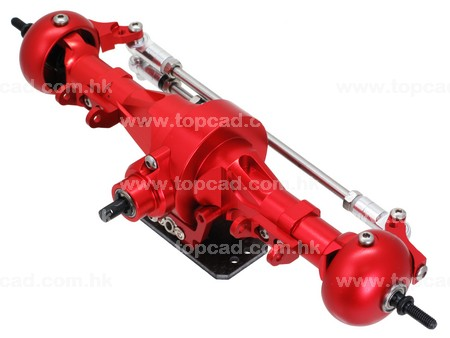 Complete HD Alloy Front Axle for SCX-10