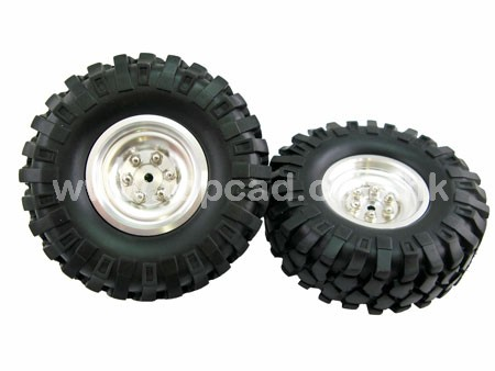 1.9 High Mass Wheel & Tire set for Crawler & SCX-10