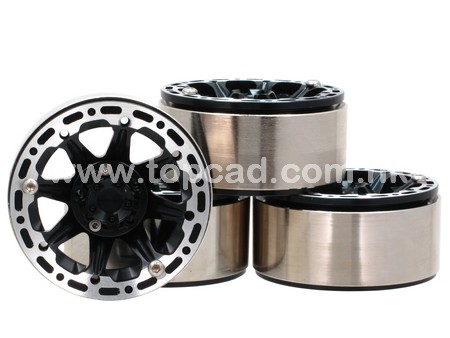Side Slot 8S 1.9 High Mass Wheel for Crawler (4)