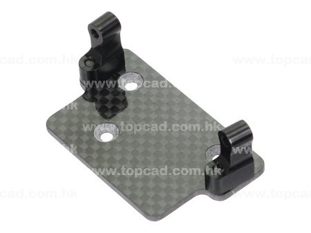Carbon plate Servo Mount for SCX-10