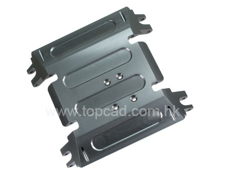 Alloy Centre Skid Plate for Axial Wraith