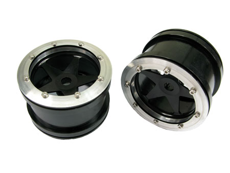 Alloy 5-spoke Bead Lock Wheel (2) for Wraith