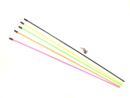 Antenna Pipe w/mount (X5 assorted colors)