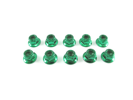 HD 3mm Low Mass Lock Nut set With Flange (10)