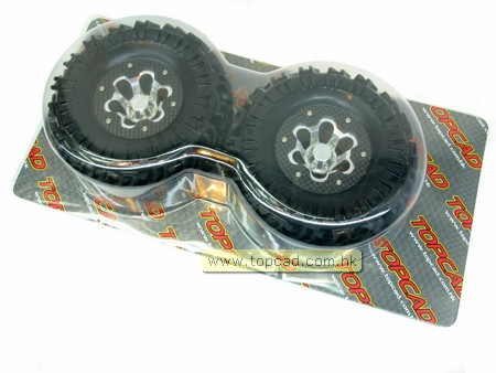 Graphite Outer Ring 2.2 Bead-lock Wheel & Tire Set (2) for Crawl