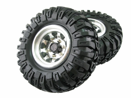 2.2 Bead-lock Wheel & Tire Set (2) / High Mass for Crawler