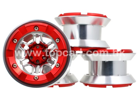 Alloy 2.2 Bead-lock Wheel only (4) / Star-6 for Crawler