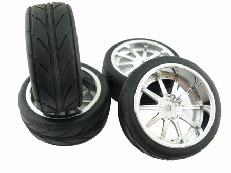 Wheel & Tire set 10-spoke (4)