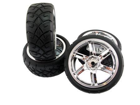 Wheel & Tire set 6-spoke (4)