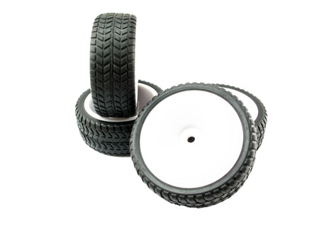 Velocity Light Weight Wheel & Tire set (4) for 1/10