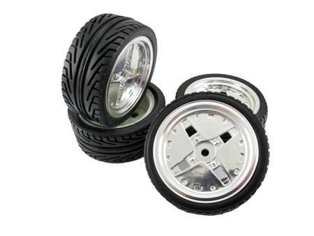 Wheel & Tire set (4) for 1/10