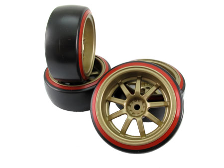 1/10 CE Drift Wheel & Tire set 9-spoke / (4)