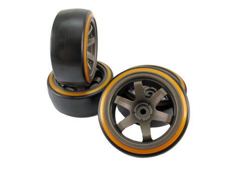 1/10 CE Drift Wheel & Tire set 6-spoke / (4)