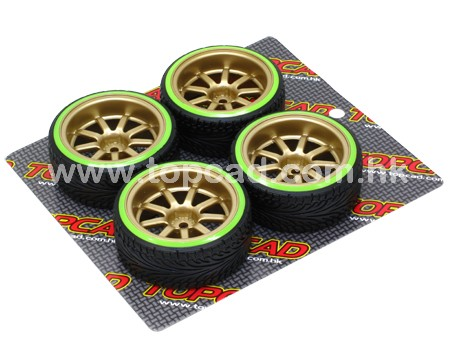 1/10 CE Drift Wheel & Radical Tire set 9-spoke / (4)