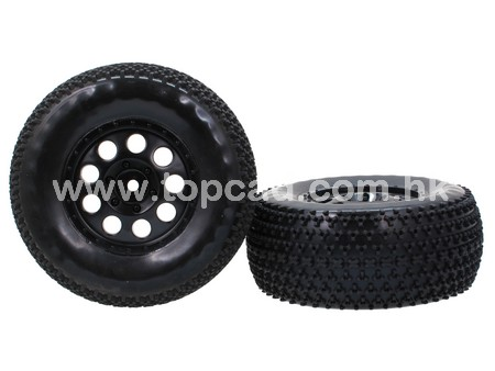 9H Wheel & Tire set for 1/10 Off-road Short Course (2)