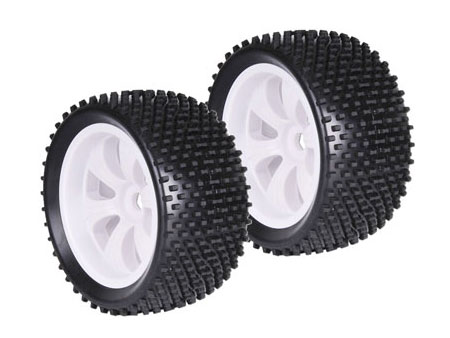 1/8 Truggy 6-spoke Racing Tyre / Soft (2)