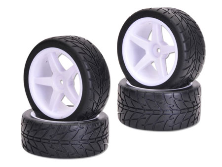 1/10 Combination Wheel & Tire set On-Road V pattern (4)