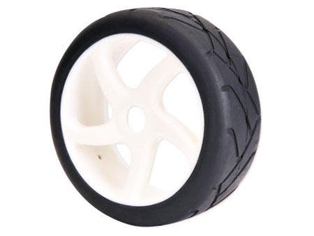 1/8 Buggy Wheel & Tire set 5-spoke / on road (2)