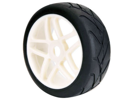 1/8 Buggy Wheel & Tire set dual 5-spoke / on road (2)