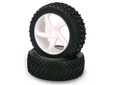 1/8 Buggy Wheel & Tire set 5-spoke (2)