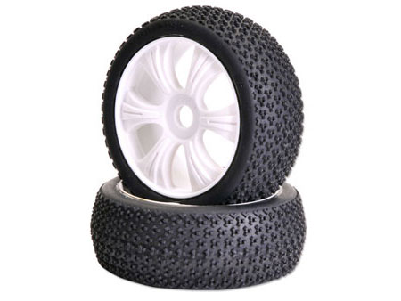 1/8 Buggy Wheel & Tire set 6-spoke (2)
