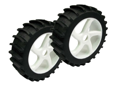 1/8 Buggy Wheel & Tire set Dual Sport tire, Sand / Snow (2)