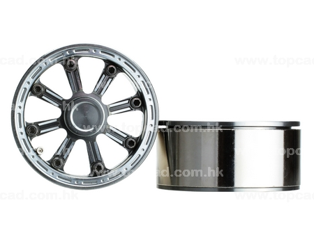 Billet Beadlock Alloy Wheel 1.9/ 8-spoke (2)