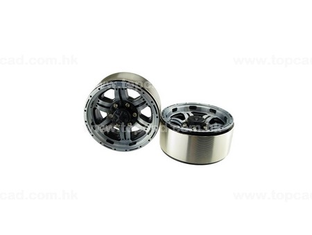 1.9 HM Beadlock Alloy Wheel Twin-6F (2)