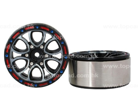 1.9 HM Beadlock Alloy Wheel V6 (2)