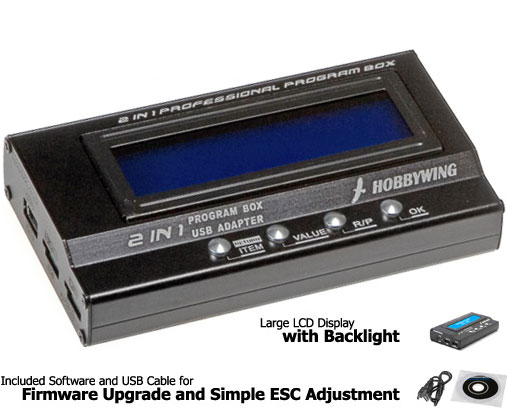 2in1 Professional Program Box with USB For  Hobbywing ESC