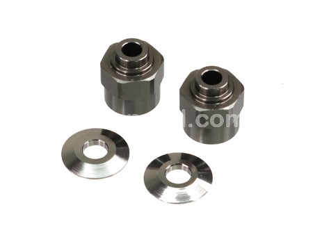 Alloy Hex. Wheel Hub for Wraith / 3mm wider