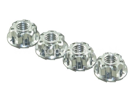 Super LW Self-Lock Alloy nuts (4mm)