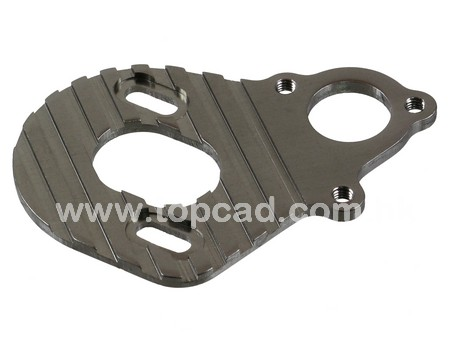 Alloy Motor Plate w/heat sink for Axial Wraith