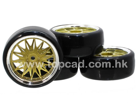1/10 D14 Drift Wheel & Tire set (4)