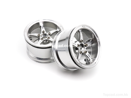 Alloy Wheel 5-star for 1/10 Crawler 2.2 (2)